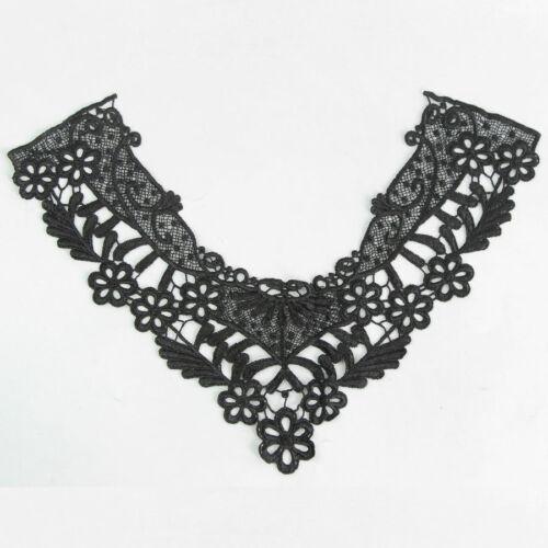 1 Stück Schwarz Spitze Applikationen Blatt Ausschnitt Kleidung verzieren Nähen