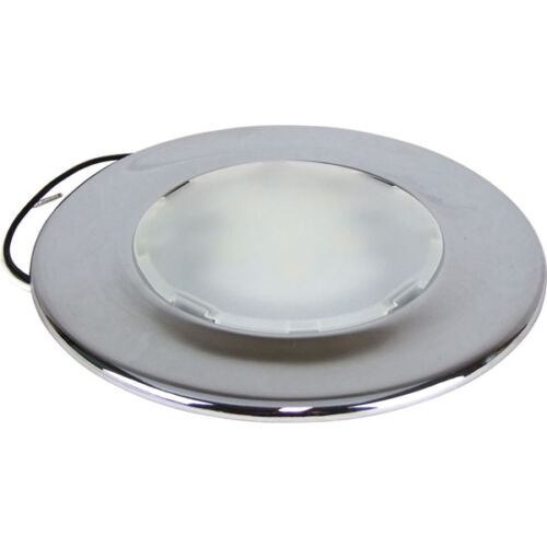 12 Volt Dome Light Fixture: LED CABIN DOME LIGHT-BOAT LAMP Surface Mount Ultra Slim