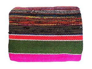 Image Is Loading Hand Loom Woolen Carpet Rag Rug Floor Mat