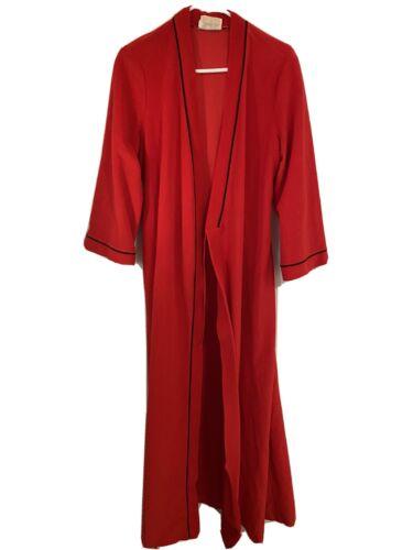 Vanity Fair Red Long Robe Medium Vintage Made In U