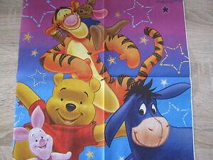 1 Serviette Winnie Pooh und seine Freunde rar, selten, ganzes Motiv ...