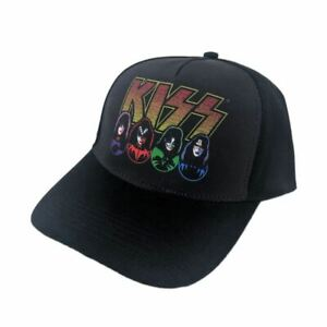 KISS-Logo-Black-Baseball-Dad-Cap-Hat-One-Size-Unisex-Peaked-Sports