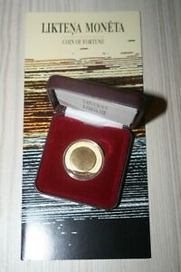 !rare With Booklet! Fortune Coin Gold-silver 1 Lats Latvia 2003 Coa Box Lettland Forme éLéGante
