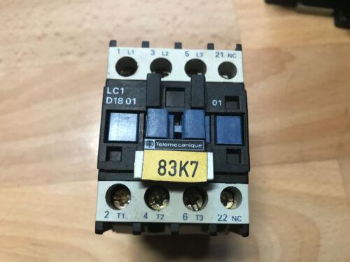 50//60 Hz Protection Type:Lc1 D1801//230v Très Bon État Telemecanique
