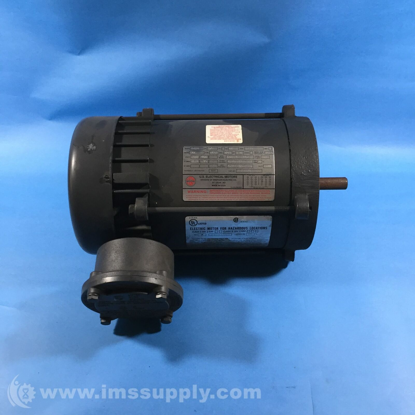 EMERSON G318 ELECTRIC MOTOR FOR HAZARDOUS LOCATIONS USIP