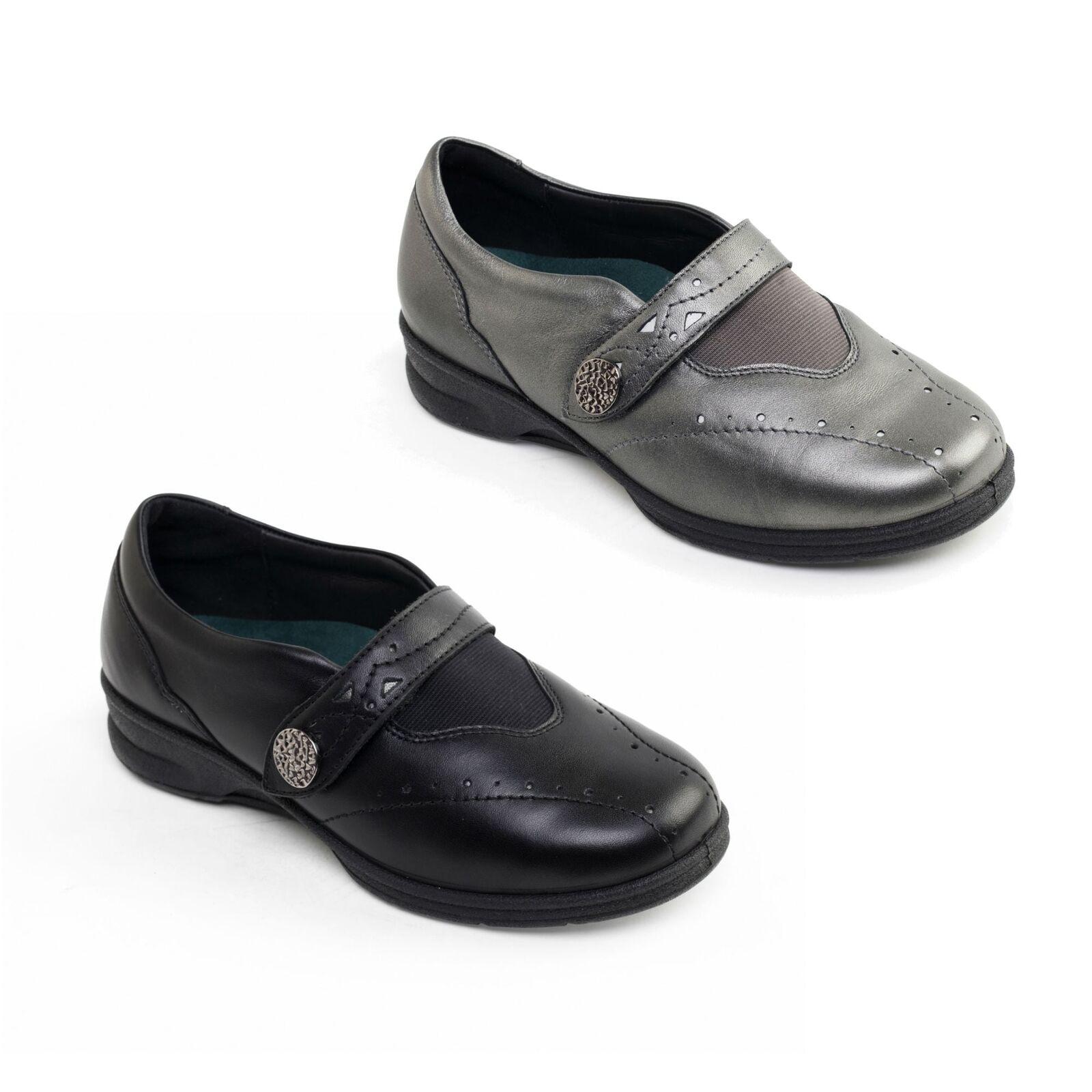 Padders Kirsten 2 Donna in Pelle Extra Wide Fit 4E/6E tocco di allacciare le scarpe