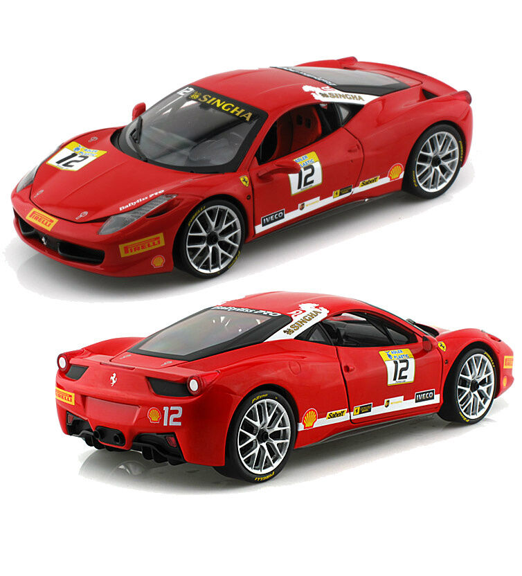 1 18 Hot Wheels Foundation Voiture Mourir CAST FERRARI 458 Challenge bct89