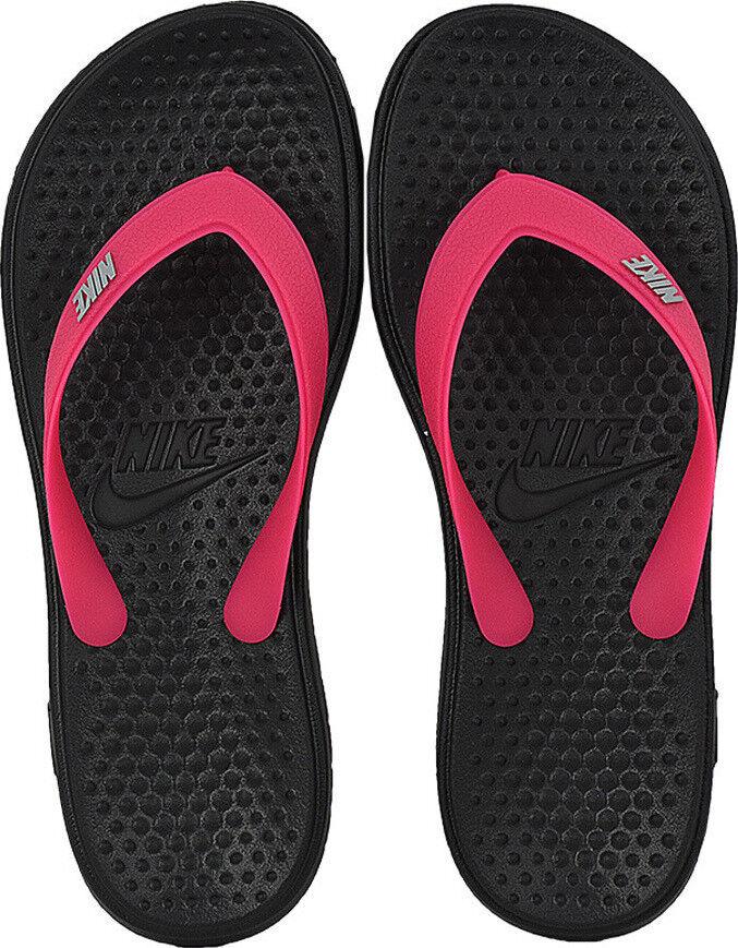 Nike Unisex Kids Solay Soft Thong 2 Flip Flops Juniors Black Beach Pool Sandals