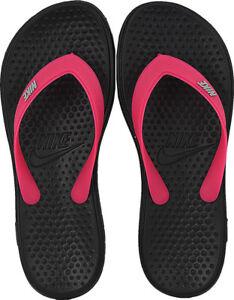 60bee1eaa098da Nike Unisex Kids Solay Soft Thong 2 Flip Flops Juniors Black Beach ...