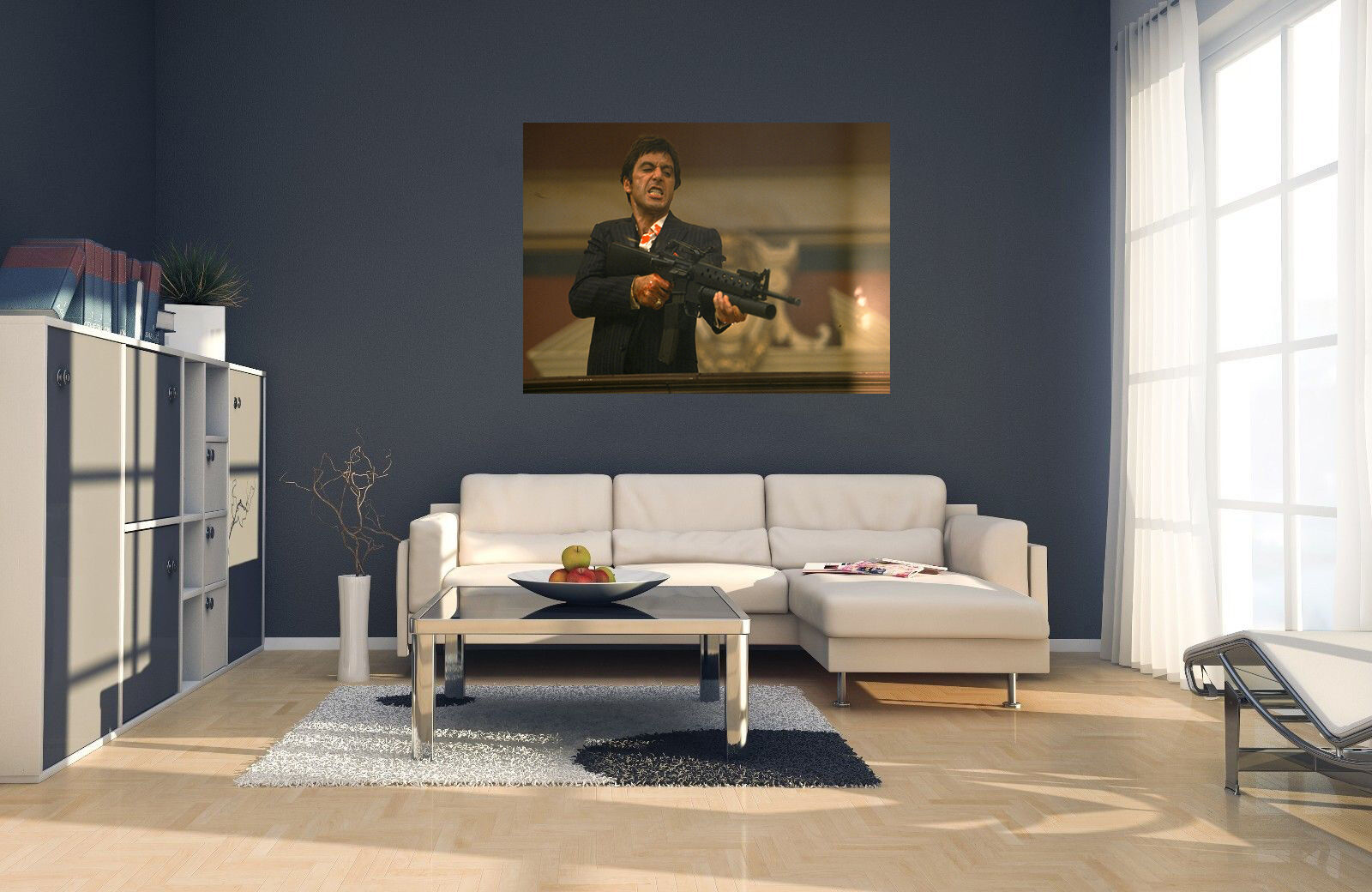 Scarface Say Hello To My Little Friend Canvas Print Art Home Decor Wall