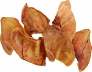 123 Treats Pig Ear Chews for Dogs 100 Pieces