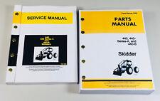 Service Manual Parts Catalog Set For John Deere 440 440a Series A 440b Skidder