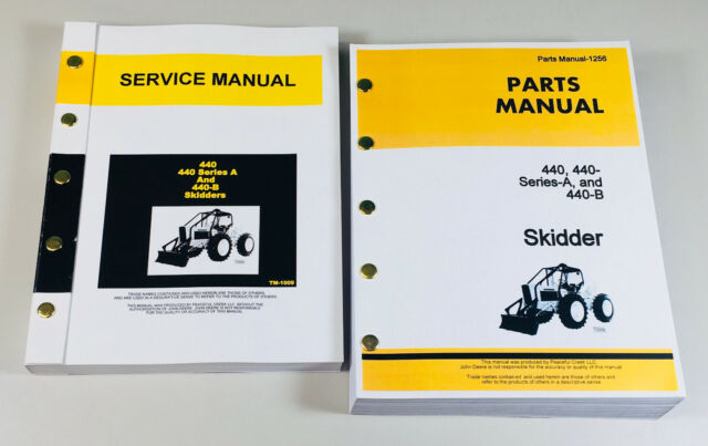 SERVICE MANUAL PARTS CATALOG SET FOR JOHN DEERE 440 440A SERIES A 440B on