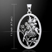 Rose Red Amy Brown Fairy Sterling Silver Pendant By Peter Stone Fine Jewelry