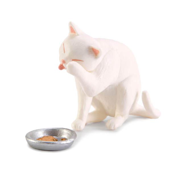 Z132 Epoch Animal Capsule Kitten and Cat White House /& Black Neko Figure New