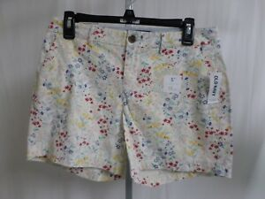 e44ee7babbd Old Navy WHITE FLOWER Print Misses Shorts SIZE 2 TWILL 5