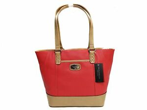5c1a30ba70af Image is loading NWT-Tignanello-Artisan-Revival-Conv-Shopper-Leather -Strawberry-