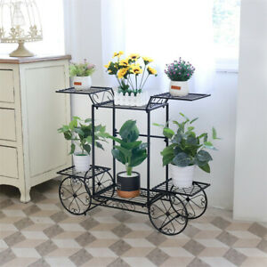 Large-Metal-Plant-Stand-Flower-Pot-Holder-Cart-for-Home-Garden-83x22x68-5cm