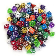 D&D Dungeons & Dragons Clear Dices 7 pcs Colorful Poly Games Multi-Sided D4-D20