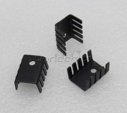 20PCS TO-220 Heat Sink Black TO220 19x15x10mm IC Heat Sink Aluminum New
