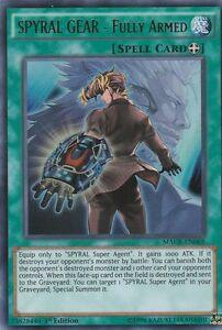 YUGIOH-HOLO-CARD-SPYRAL-GEAR-FULLY-ARMED-MACR-EN088-1ST-EDITION