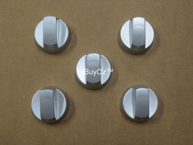 uBuyOz UK-42S5 Oven Cooktop Knobs – Silver