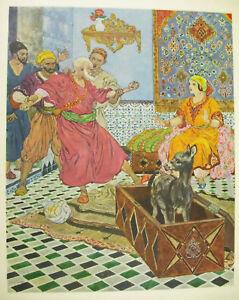Les 1000 Lmille Et Une Nuits Estampe De Léon Carré 1926 Orientalisme Conte Arabe