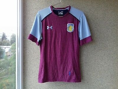 Aston Villa Training Football Shirt 2017 2018 Jersey Under Armour Soccer England Ebay