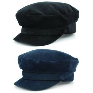 47027c858a Captain s Cap Breton Hat Cord BLACK NAVY BLUE Mariner Lennon ...