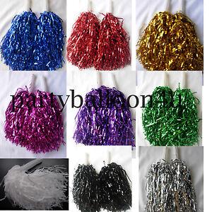 1-Coppia-Cheerleader-pompom-Ballerina-Travestimento-Costume-Pom-Danza-Addio-Al