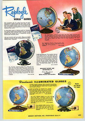 Advertising Responsible 1957 Paper Ad Replogle World Globes Handmade Office Library Floor Model Elegant Shape Other Collectible Ads