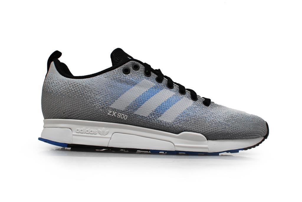 Herren Adidas ZX 900 gewebt grau blau Textil Turnschuhe Freizeit B26526