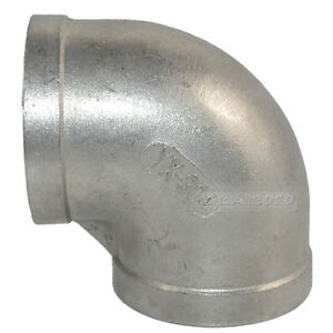 304-Stainless-Steel-2-034-Elbow-90-degree-angled-Pipe-Fitting-Female-threaded
