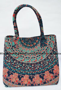 Indian-Handbag-Mandala-Multi-Tote-Bag-Shoulder-Cotton-Women-Satchel-Purse-Lady