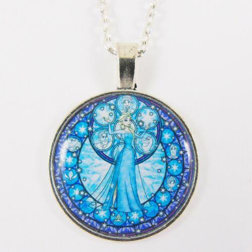 Collar de Elsa Congelada Disney Princesa Anna OLAF de la magia de la Navidad Reino Corazones
