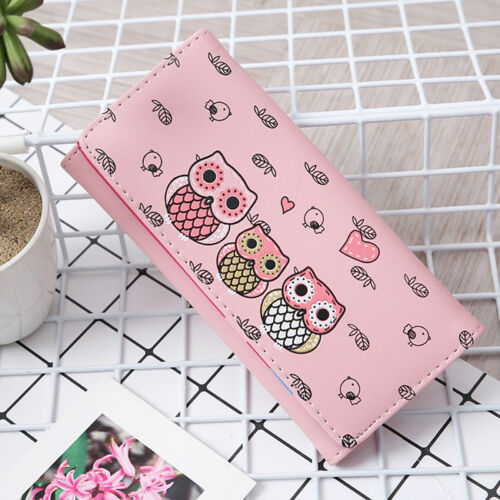 Womens Coin Purses Ladies High Quality Owl Wallets Girls Card Holder Bags DS