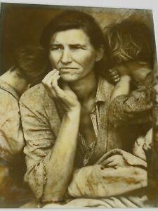 DOROTHEA LANGE MIGRANT MOTHER 1936 PHOTO 7.5 X 9 INCHES