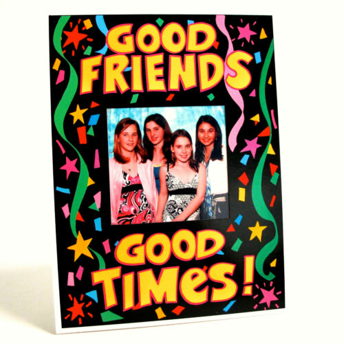 "Great Gifts /& Party Favors * PHOTO FRAMES 10 pack /""GOOD FRIENDS, GOOD TIMES/"""