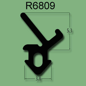 BLACK FLIPPER UPVC WINDOW DOOR RUBBER GASKET REPAIR SEAL R680901X