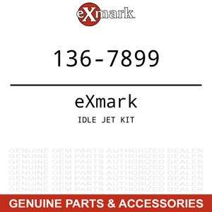Exmark 136-7899 Idle Jet Kit Quest Radius E S Series