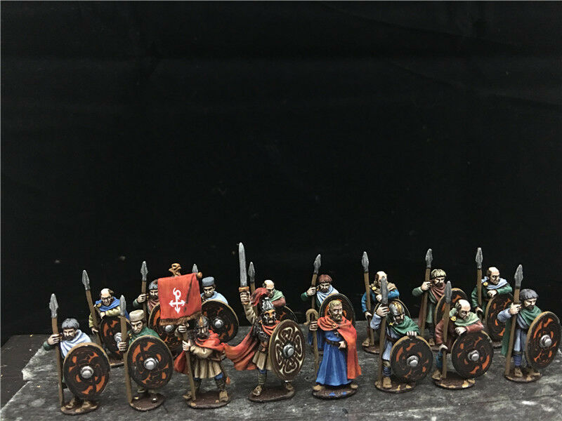 1 56    28mm Ancient WAB DPS painted Late Roman Assorted Arthurian Infantry GH1015 9f3220