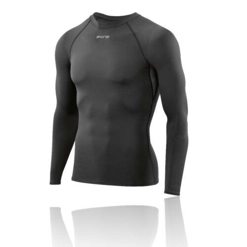 Skins Homme dnamic Force Compression Haut à manches longues Noir Sport Gym Course
