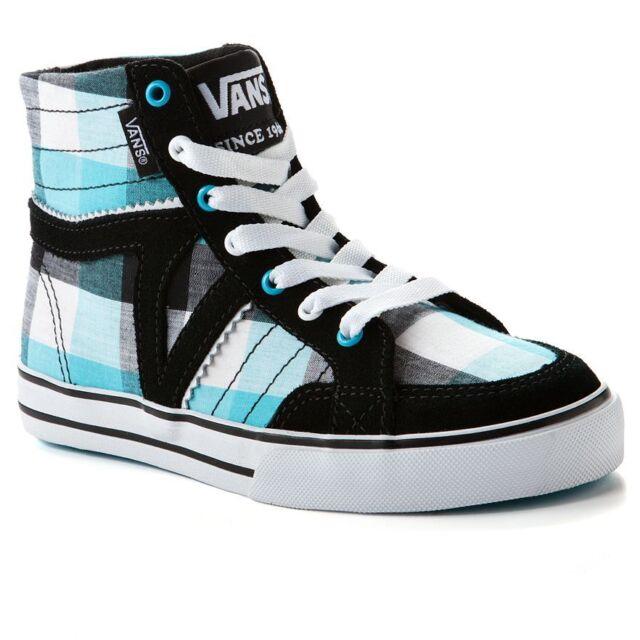 11e5c6aedd0392 Vans Corrie Hi High Top Girl Shoes Size 11 Sneakers Plaid Black Blue Skate  New