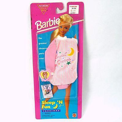 Vintage 1995 Barbie Sleep 'N Fun Fashions Pack Sweet Dreams Pajama Nightgown NEW