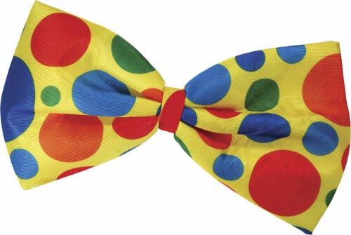 NEW LARGE JUMBO GIANT SPOTTED SPOTTY BOW TIE FANCY CLOWN COSTUME ACC free uk p+p