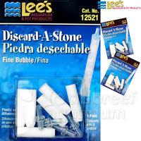 2 Discard-a-stone Coarse Air Bubble Diffuser Lee's Aquarium Skimmer Airstone 6pk
