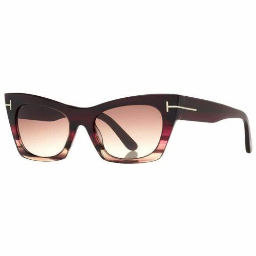 Tom Ford Kasia Sunglasses Purple w//Brown Lens Women FT0459 71F