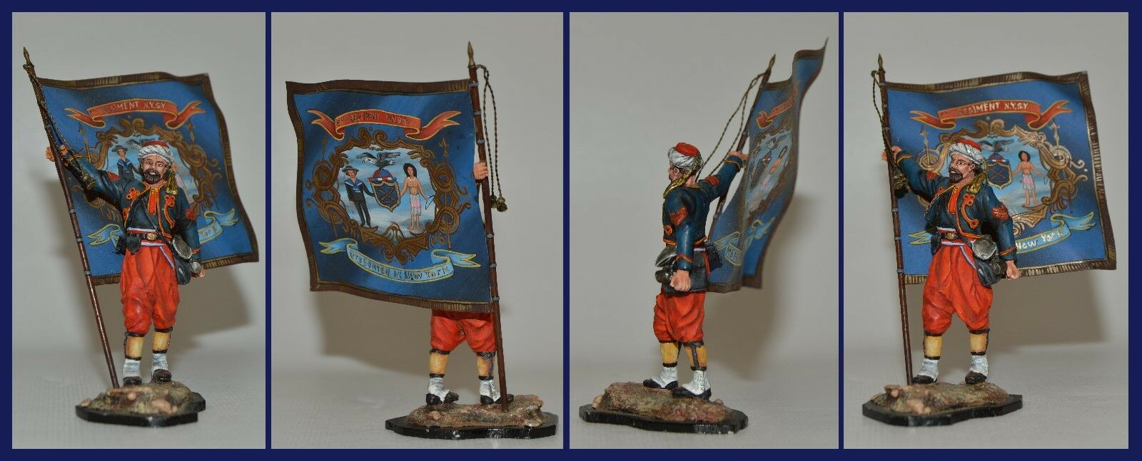 Andrey Rogachev Russian Painted ACW 5th New York Zouave Flag Bearer