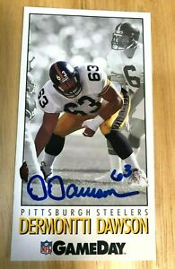 HOF-DERMONTTI-DAWSON-1992-Game-Day-63-HAND-SIGNED-AUTOGRAPHED-CARD-STEELERS