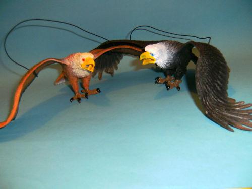Adler Weißkopfseeadler Hartgummi 2erSet 35cm Greifvögel Vogel Vögel Greifvogel